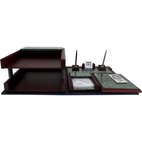 Набір настільний Cabinet 5 предметів мармур дерево №O36569