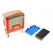 Оснастка для штампа Сплачено пластикова 38х14мм Shiny Карбон S-852 корпус синій