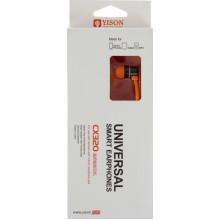 Наушники вакуумные Yison CX320 гарнитура с перекл. на 3,5 orange, микрофон