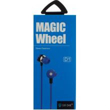 Наушники вакуумные Celebrat D1 гарнитура blue, микрофон