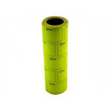 Цінник клейкий в рулоні F 6м Ціна з рамкою 29х36мм жовтий (5) (440)