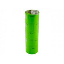 Цінник клейкий в рулоні F 6м Ціна з рамкою 29х36мм зелений (5) (440)
