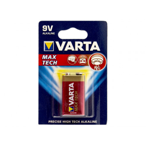 Батарейка Varta Алкалайн 6LR61/1bl maxi tech/longlife max power 9V крона (10)