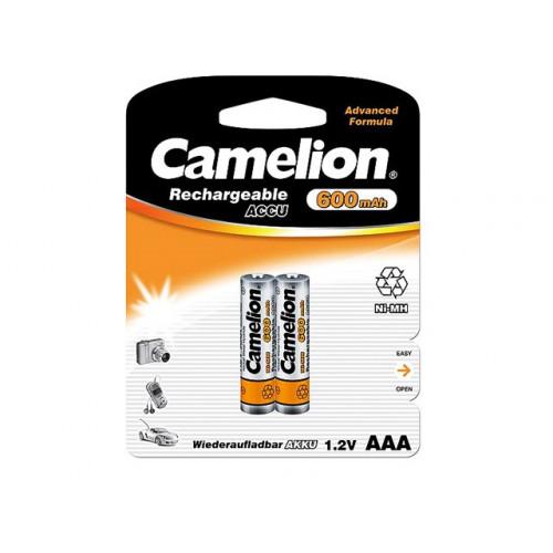 Аккумуляторы Camelion Ni-Mh (R-03, 600 mAh) блистер 2 шт (12)