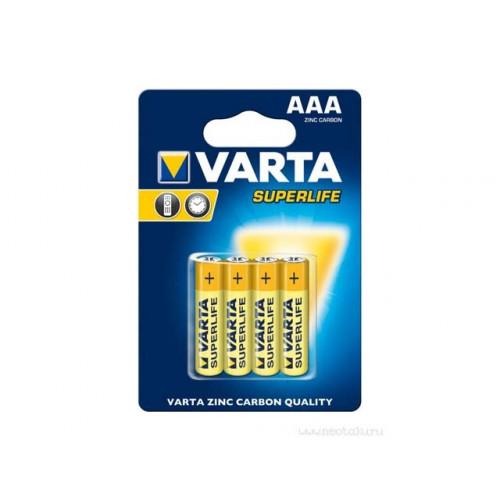 Батарейки Varta Superlife R-03 блистер 4 шт (12) (24)