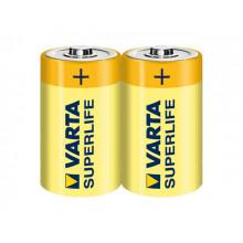 Батарейки Varta Superlife R-14 / пленка 2 шт (12) (60)