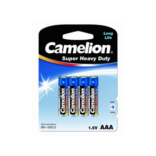 Батарейки Camelion blue R-03 / блистер 4 шт (12) (288)