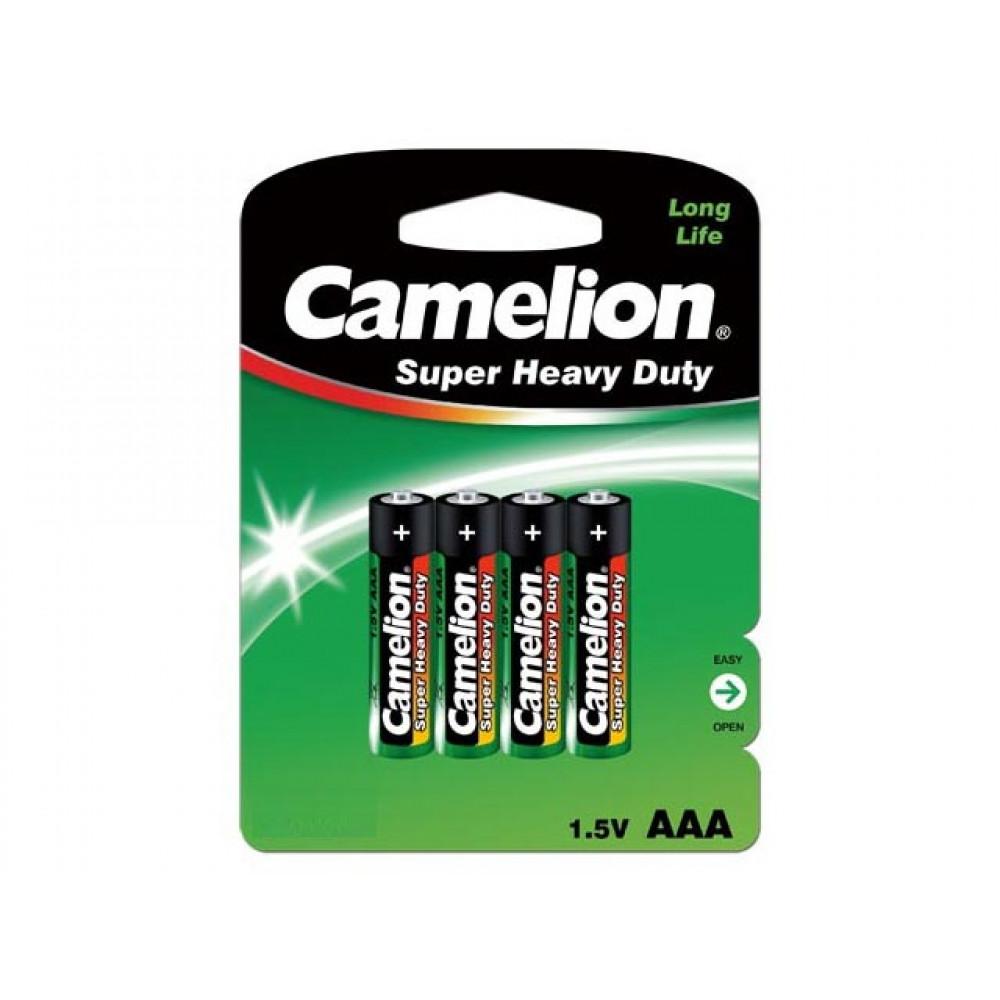 Батарейки Camelion green R-03 / блистер 4 шт (12) (288)