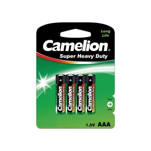 Батарейки Camelion green R-03/блістер 4 шт (12) (288)
