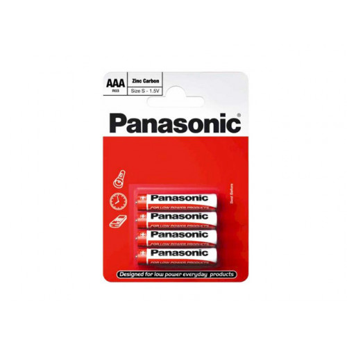 Батарейки Panasonic zinc carbon R-03 блистер 4 шт (12) (60)