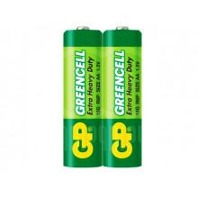Батарейки GP Greencell R-03 плівка 2 шт (20) (100) (500)