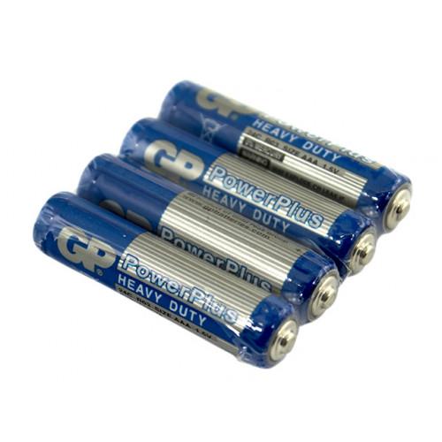 Батарейки GP Powerplus синие R-03 пленка 4 шт (10) (50) (250)