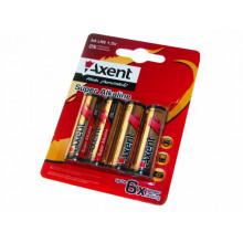 Батарейки Axent Алкалайн LR-06/блістер 4 шт (12) (144) 5556
