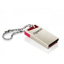 Флеш-пам`ять 16GB Apacer AH112 USB 2.0 red/crystal