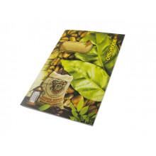 Книга-канцелярская А4 48 листов клетка Фолдер газетка мягкая обложка (30)