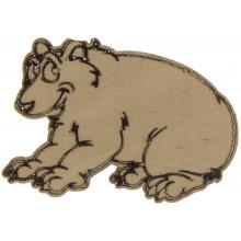 Медведь гризли 2,5х4 см фанера (5)