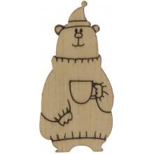 Медведь с чашкой 4х2 см фанера (5)