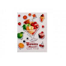 Блокнот А6 32 аркуші клітинка Рюкзачок картонна обкладинка на скобі (10) (100) №ЗК-16