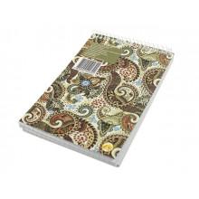 Блокнот на пружині верхній Тетрада А6 96 аркушів клітинка картонна обкладинка (10) (210) 460520