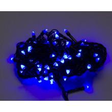 """Гирлянда электрическая """"String"""" Конус 100 LED синий, черный провод (100) №K-412/1210-02"""