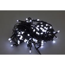 """Гирлянда электрическая """"String"""" Конус 200 LED белый, черный провод (100) №1220-03"""