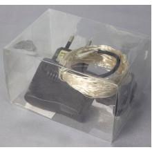 Гирлянда электрическая нить String Роса 100 LED неон синий, прозрачный провод 1275-02