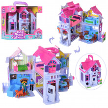Будинок, меблі, фігурки, в коробці 27х26х18см (18) КІ №F611