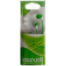 Наушники вакуумные Maxell color canalz-green 303443