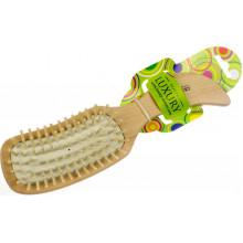 Щетка массажная для волос Luxury деревянная HB-03-10