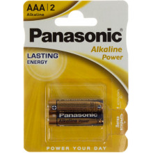 Батарейки Panasonic Alkaline Power LR-03 / блистер 2 шт (12)