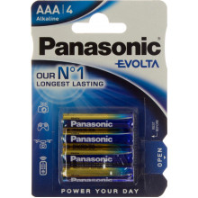 Батарейки Panasonic Alkaline Evolta LR-03 блістер 4 шт (12) (60)
