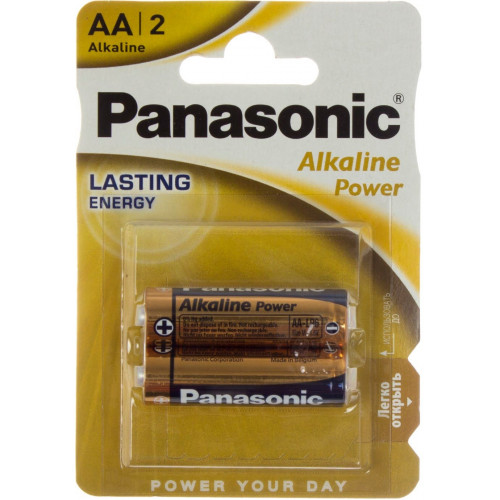 Батарейки Panasonic Alkaline Power LR-06 / блистер 2 шт (12) (60)
