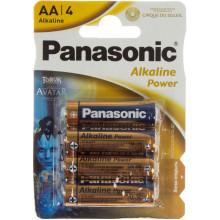 Батарейки Panasonic Alkaline Power LR-06 / блистер 4 шт (12) (60)