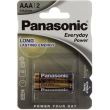Батарейки Panasonic Everyday Power LR-03 / блистер 2 шт (12) (60)