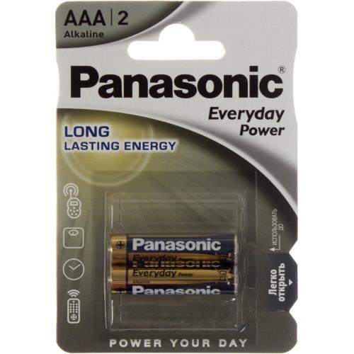 Батарейки Panasonic Everyday Power LR-03 блистер 2 шт (12) (60)