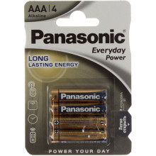 Батарейки Panasonic Everyday Power LR-03 / блистер 4 шт (12) (60)