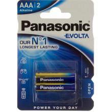 Батарейки Panasonic Alkaline Evolta LR-03 блістер 2 шт (12) (60)