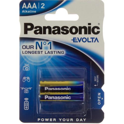 Батарейки Panasonic Alkaline Evolta LR-03 блистер 2 шт (12) (60)