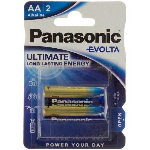Батарейки Panasonic Evolta LR-06/блістер 2 шт (12) (60)