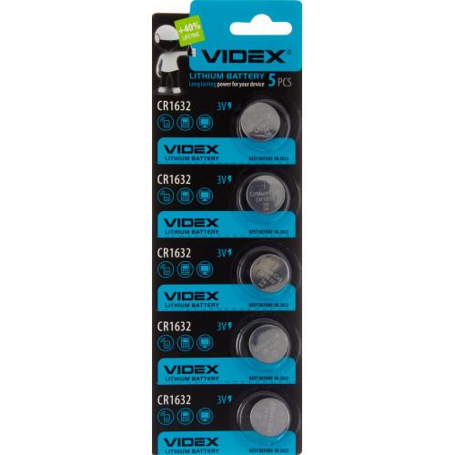 Батарейка Videx CR1632/5bl (5) (100)