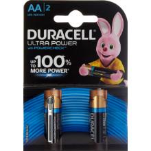 Батарейки Duracell индикатор заряда батареи Ultra Power LR-06/блистер 2 штуки (20)