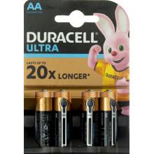 Батарейки Duracell индикатор заряда батареи Ultra Power LR-06/блистер 4 штуки (20)