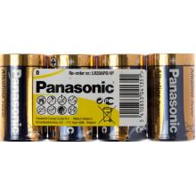 Батарейки Panasonic Alkaline Power LR-20/пленка 4 штуки