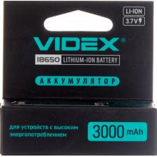 Аккумулятор Videx Li-ion 18650-R, 3000 mAh, защита