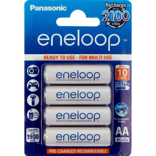 Аккумуляторы Panasonic Eneloop Ni-Mh (R-06, 1900 mAh) блистер 4 шт (BK-3MCCE/4BE)