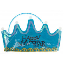 Корона-обруч,фетр,светится,музыка (голубая) (480) №R83741