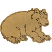 Медведь Гризли 7х9 см фанера (5)