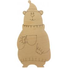Медведь с чашкой 10х5 см фанера (5)