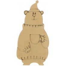 Медведь с чашкой 7х3 см фанера (5)