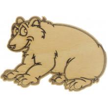 Медведь гризли 5х7 см фанера (5)